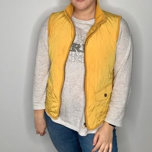 Yellow Talbots Quilted Vest
